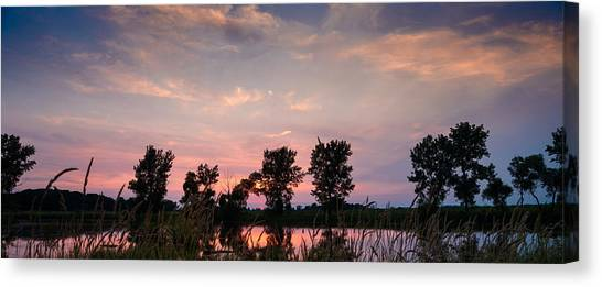 Prairie Sunsets Canvas Print - Goose Lake Prairie Sunset by Steve Gadomski