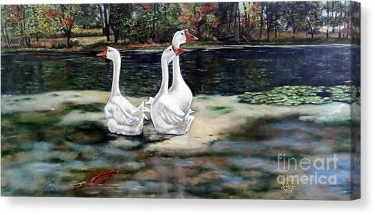 Goose Landscape Canvas Print