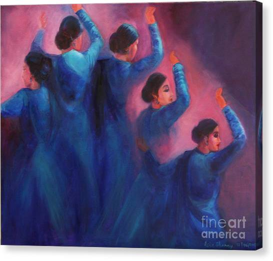 Gopis Dancing In The Dusk Canvas Print