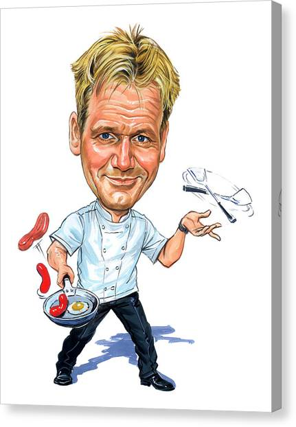 Food Canvas Print - Gordon Ramsay by Art