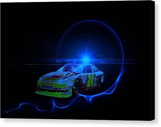 Racecar Drivers Canvas Print - Gordon Under Light by Nick Bergstrom