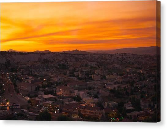Turkish Canvas Print - Goreme Sunset by Ernesto Cinquepalmi