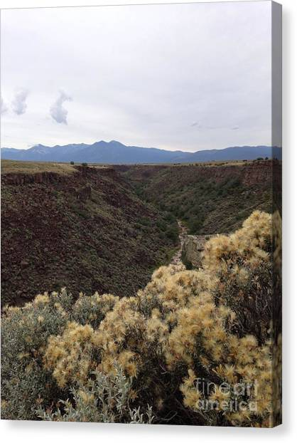 Gorge In Taos Canvas Print