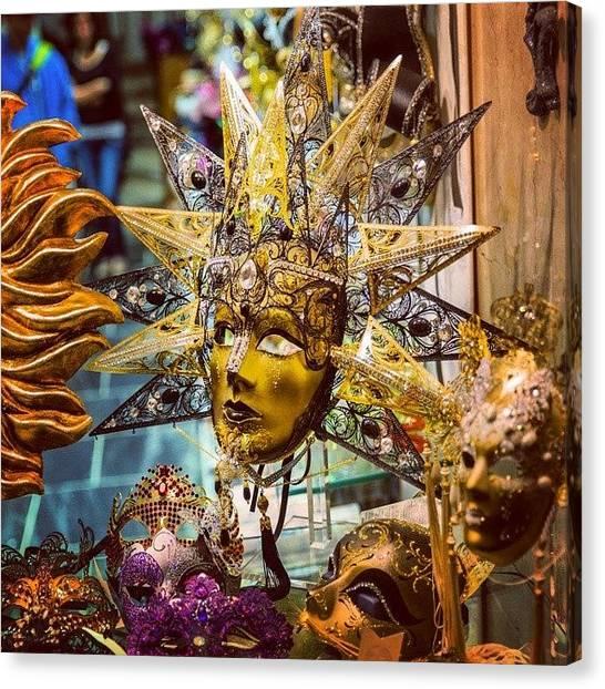 Bar Canvas Print - Gorgeous Mask From #venice #italy by Nina Bar Okin