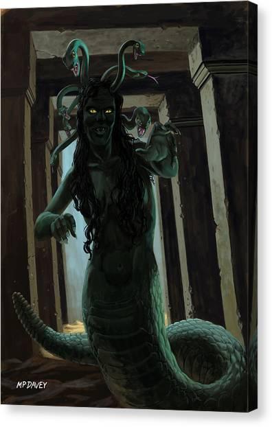 Gorgons Canvas Print - Gorgon Medusa by Martin Davey
