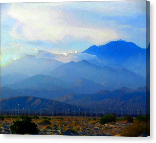 Gorgonio Pass And Mt. San Gorgonio Canvas Print