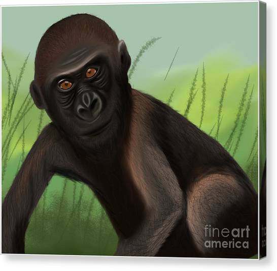 Gorilla Greatness Canvas Print