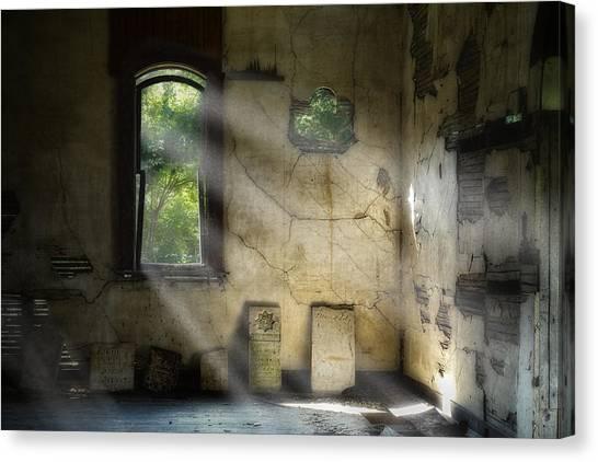 Cemetery Canvas Print - Gospel Center Church Interior by Tom Mc Nemar