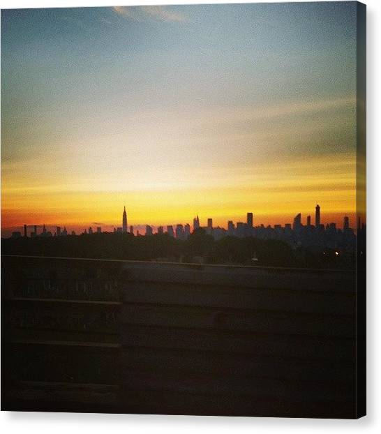 Karma Canvas Print - Got A Nice View Of The City From The by Karma Sherpa