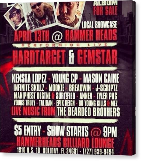 Hammerhead Sharks Canvas Print - Got A Show Coming Up! #show #concert by Kensta Lopez