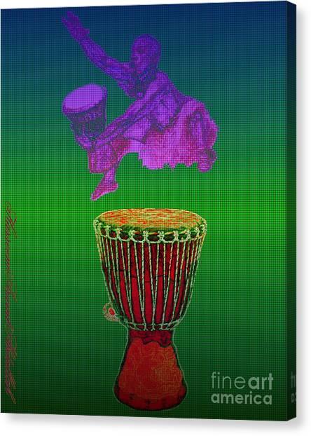 Djembe Canvas Print - Got Djembe? by Hasseem Abdallah