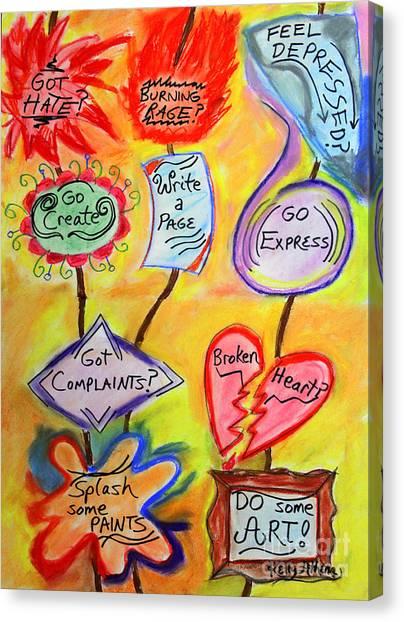 Got Hate? Canvas Print by Kelly Athena