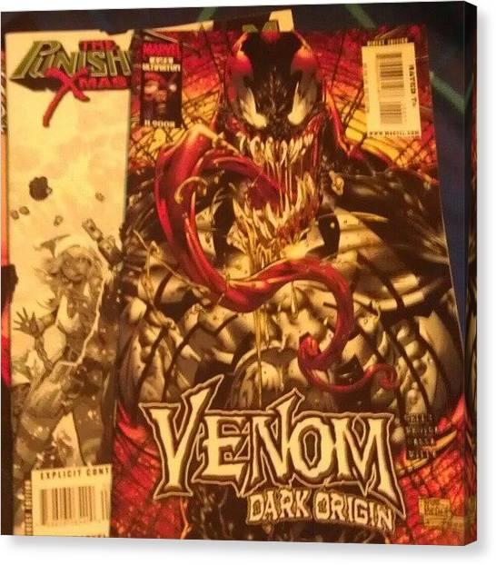 Peaches Canvas Print - Got Me Some More Comics #venom by Marcus Peach