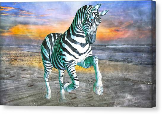 Beach Sunrises Canvas Print - Got My Stripes by Betsy Knapp