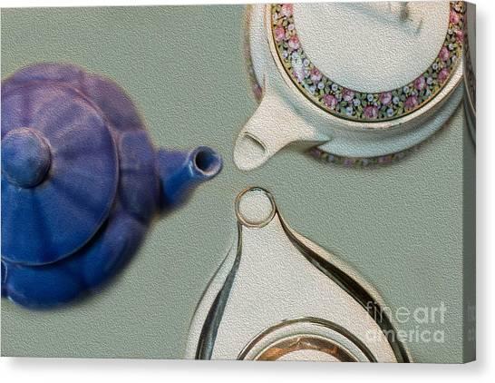 Tea Pot Canvas Print - Got Tea by Rebecca Cozart