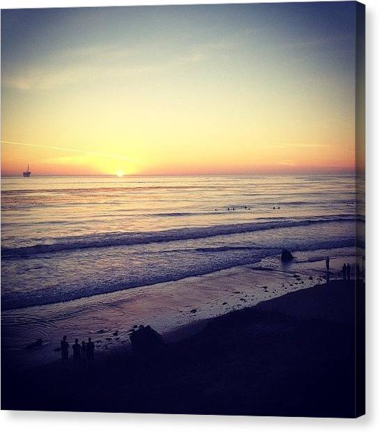 Ucsb Canvas Print - Got To See Both A Sunrise And A Sunset by Mckenzie Kane
