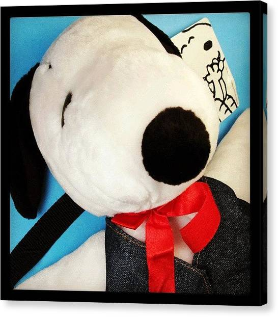 Backpacks Canvas Print - Got Your Back! #snoopy #peanuts by Caren Pilgrim