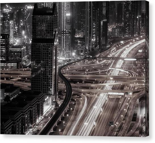 Dubai Skyline Canvas Print - Gotham by Ahmed Thabet