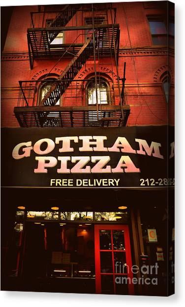 Gotham Pizza Canvas Print