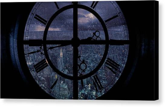 Thunderstorms Canvas Print - Gotham Viewed From Above by Jackson Carvalho