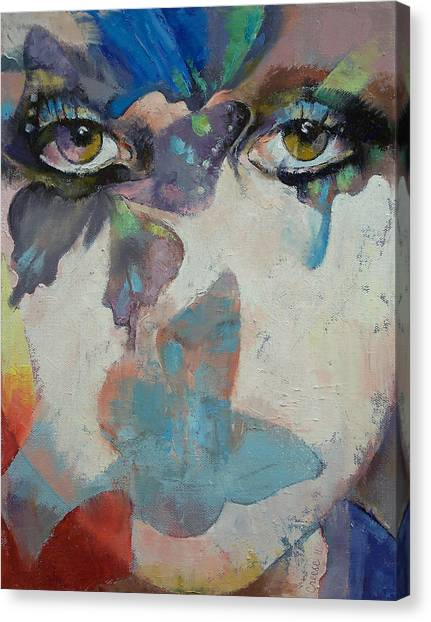 Surrealism Canvas Print - Gothic Butterflies by Michael Creese