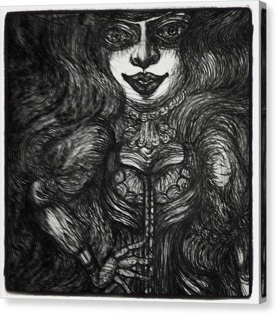 Gothic Art Canvas Print - #gothic #lady Part 2  #body  #goth by Akiko Okabe