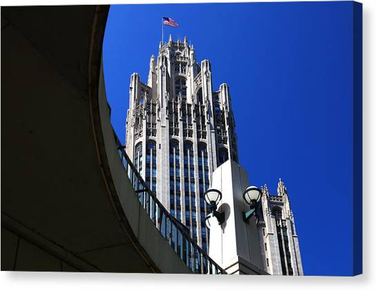 Gothic Tribune Tower Curve Canvas Print