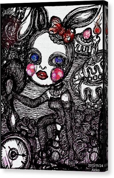 Gothic Art Canvas Print - Gothic World by Akiko Okabe