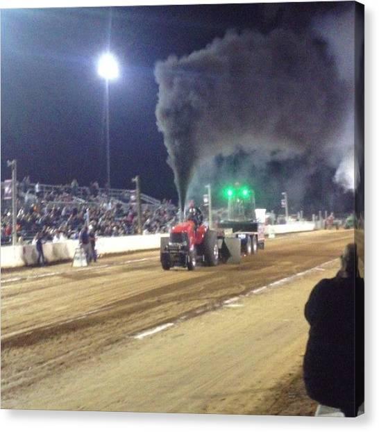 Dodge Canvas Print - Gotta Love Diesel ;) #tractorpulls by Jd Long