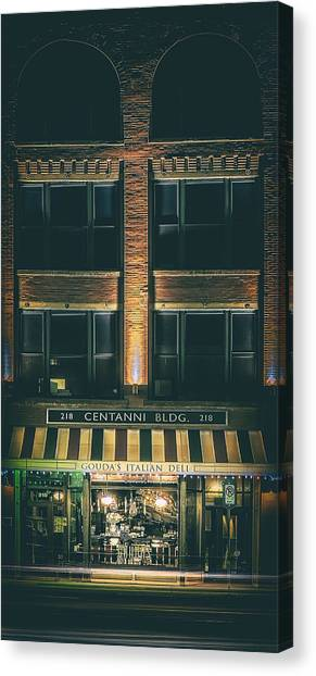 Meat Canvas Print - Goudas Italian Deli Color by Scott Norris