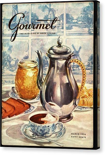 Gourmet Cover Featuring An Illustration Canvas Print