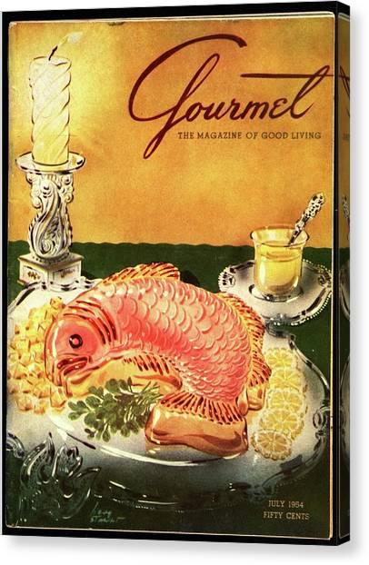 Gourmet Cover Illustration Of Salmon Mousse Canvas Print