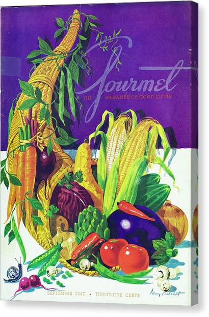 Gourmet Cover Of A Cornucopia Canvas Print