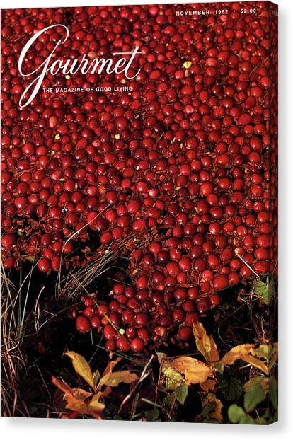 Gourmet Magazine Cover Featuring Cranberries Canvas Print