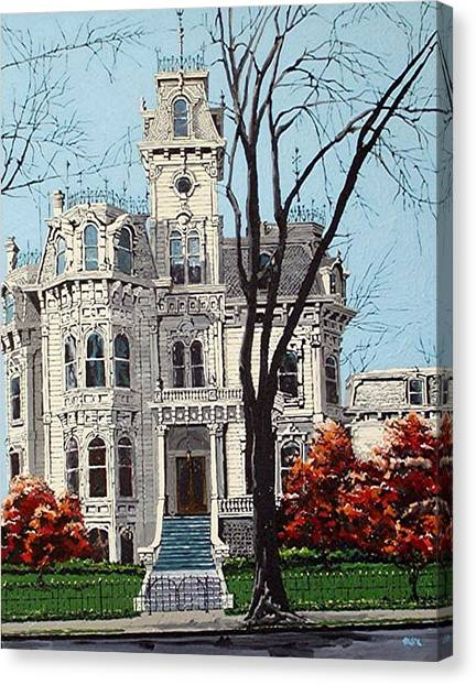 Governor's Mansion Canvas Print by Paul Guyer