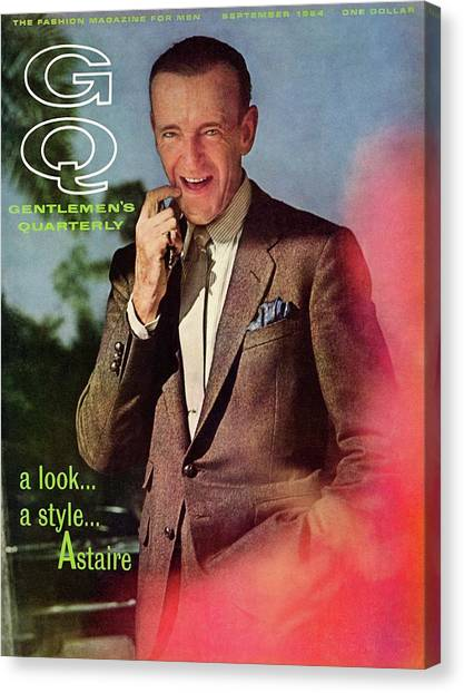 Gq Cover Featuring Fred Astaire Canvas Print by Chadwick Hall