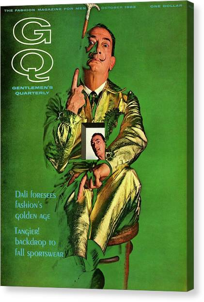 Salvador Dali Canvas Print - Gq Cover Featuring Salvador Dali by Chadwick Hall