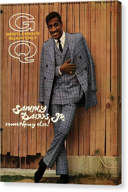 Plaid Canvas Print - Gq Cover Featuring Sammy Davis Jr by Milton Greene