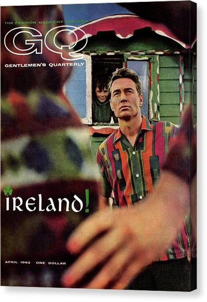 Gq Cover Of Model In Ireland Canvas Print by Chadwick Hall