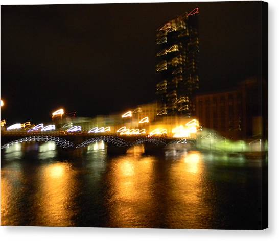 G.r. Grand River Glow Canvas Print