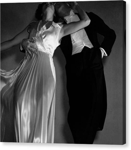 Grace And Paul Hartman Canvas Print by Edward Steichen
