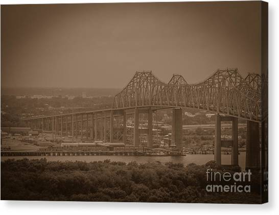 Grace And Pearman Bridges Canvas Print