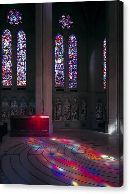 Nice Decorative Glass Canvas Print   Grace Cathedral Walking Labyrinth   San  Francisco By Daniel Hagerman