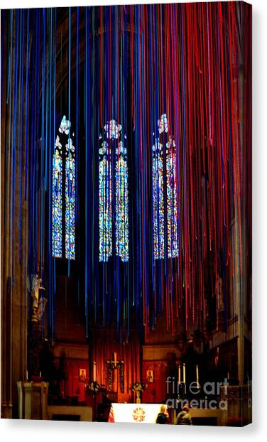 Grace Cathedral With Ribbons Canvas Print