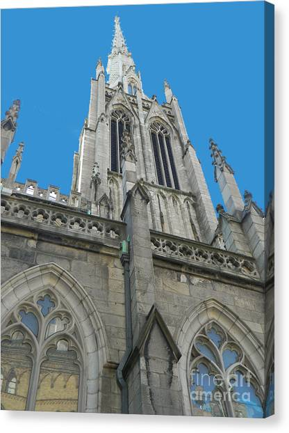 Grace Church Steeple Nyc Canvas Print