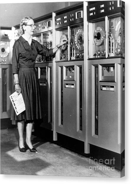 Computer Science Canvas Print - Grace Hopper, American Computer by Science Source