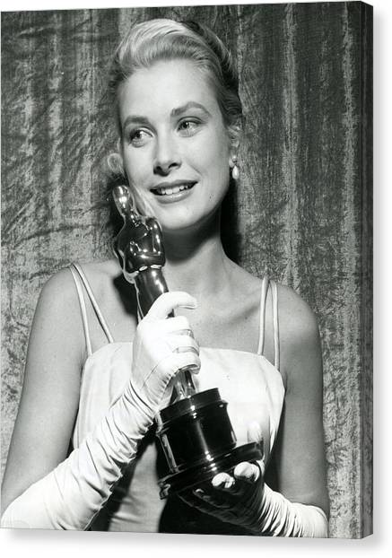 Grace Kelly Canvas Print - Grace Kelly At Awards Show by Retro Images Archive