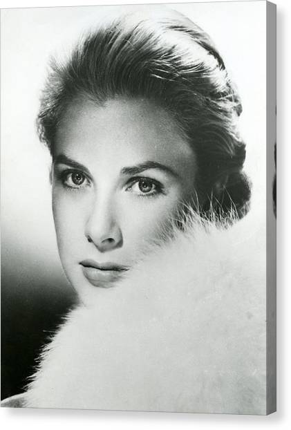 Grace Kelly Canvas Print - Grace Kelly Close Up by Retro Images Archive