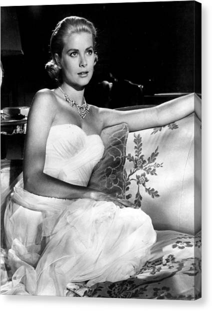 Grace Kelly Canvas Print - Grace Kelly Looking Gorgeous by Retro Images Archive