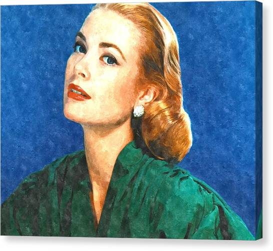 Grace Kelly Canvas Print - Grace Kelly Painting by Gianfranco Weiss